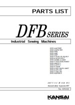 KANSAI DFB1404/1406/1412 Parts Book