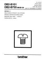 BROTHER Db2-B755 Mk3A & DB2-B101 Parts Book