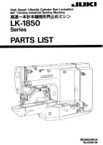 JUKI LK1850 Bartack Parts Book