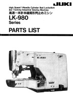 JUKI LK980 Bartack Parts Book
