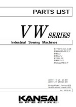 KANSAI SPECIAL V & W Series Parts Book