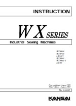 KANSAI SPECIAL WX Series Instruction Manual