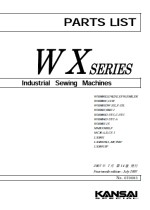 KANSAI SPECIAL WX Series Parts Book