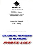 click HERE for The HIGHLEAD GC20618 & GLOBAL WF625 Partslist