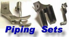 PIPING FOOT SETS For Walking Foot Lockstitch Machines